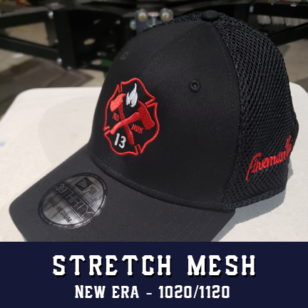 Red Maltese Logo - New Era Stretch Mesh