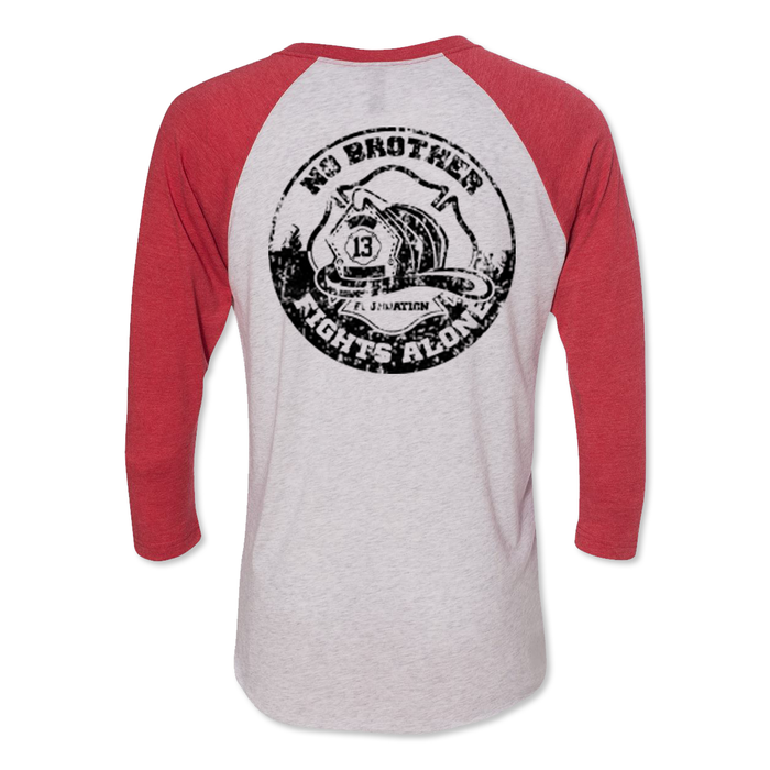 No Brother Fights Alone - Tri Blend Raglan