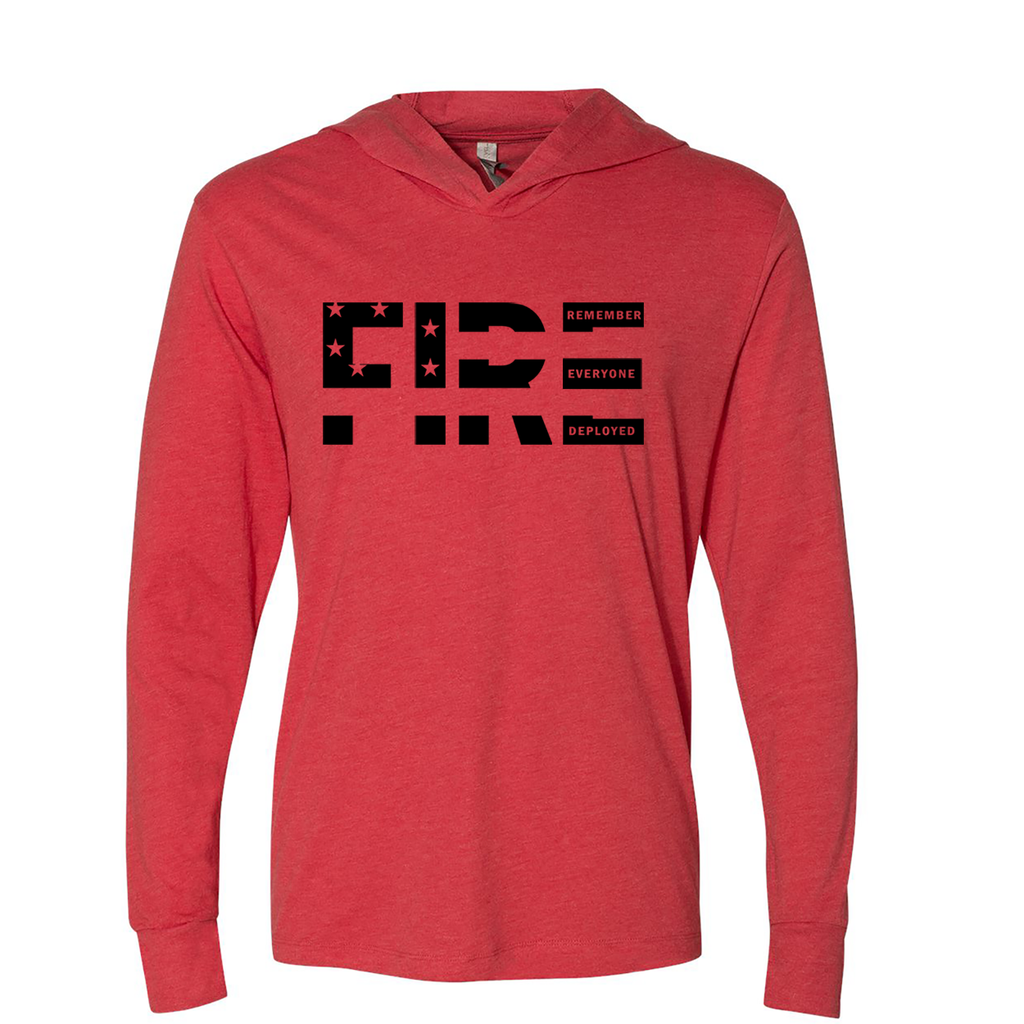 Remember Everyone Deployed - Triblend Hooded Tee