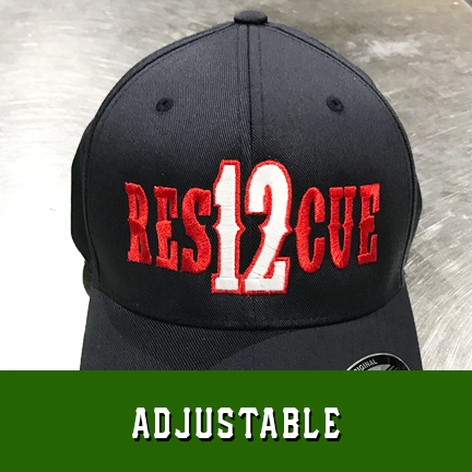 Rescue Number Outlined Custom Hat - Adjustable