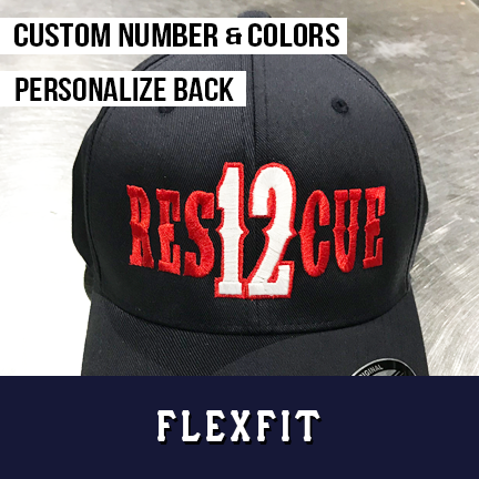 Rescue Number Outlined Custom Hat - Flexfit