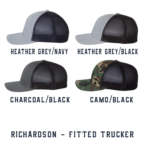 1 Line Custom Hat - Fitted Trucker
