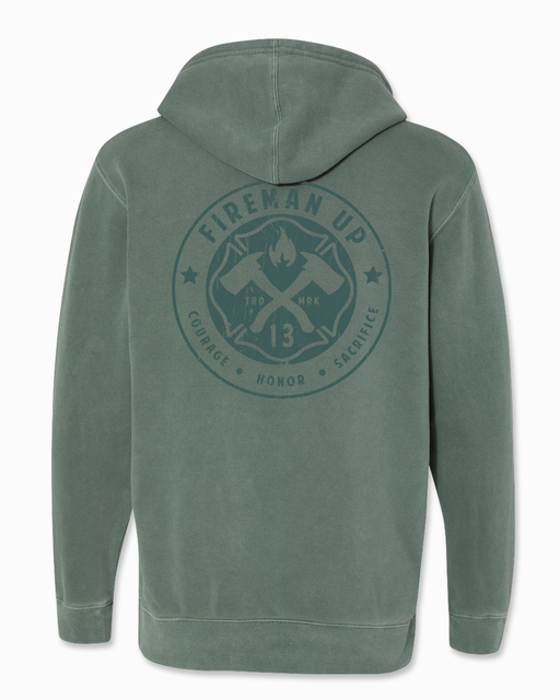 Signature RETRO - Heavyweight Hoodie - Pigment Alpine Green