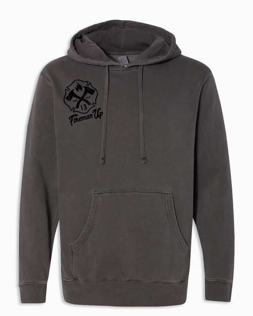 Signature RETRO - Heavyweight Hoodie - Pigment Black