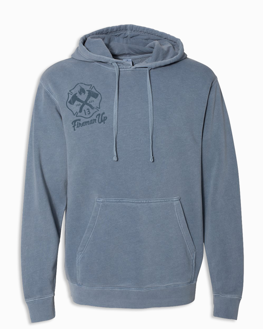 Signature RETRO - Heavyweight Hoodie - Pigment Slate Blue