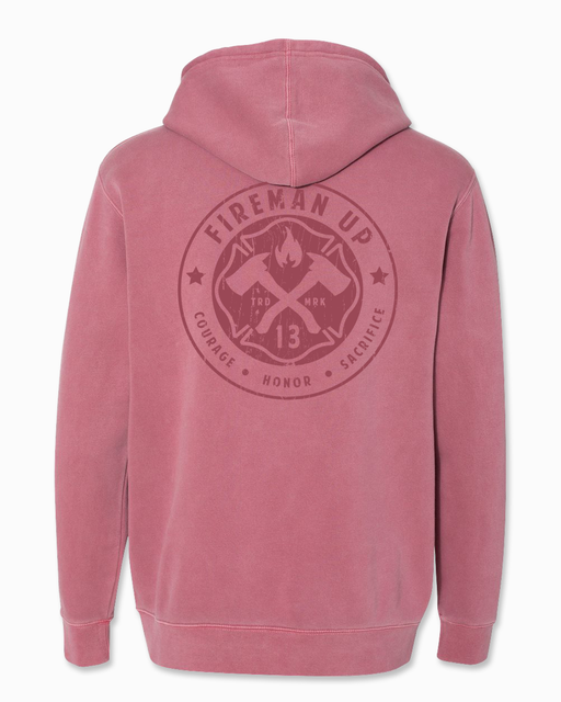 Signature RETRO - Heavyweight Hoodie - Pigment Maroon