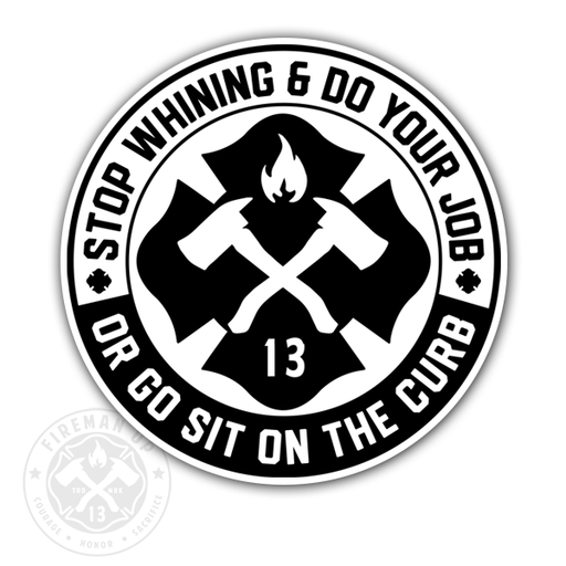 "Stop Whining - 4"" Sticker"