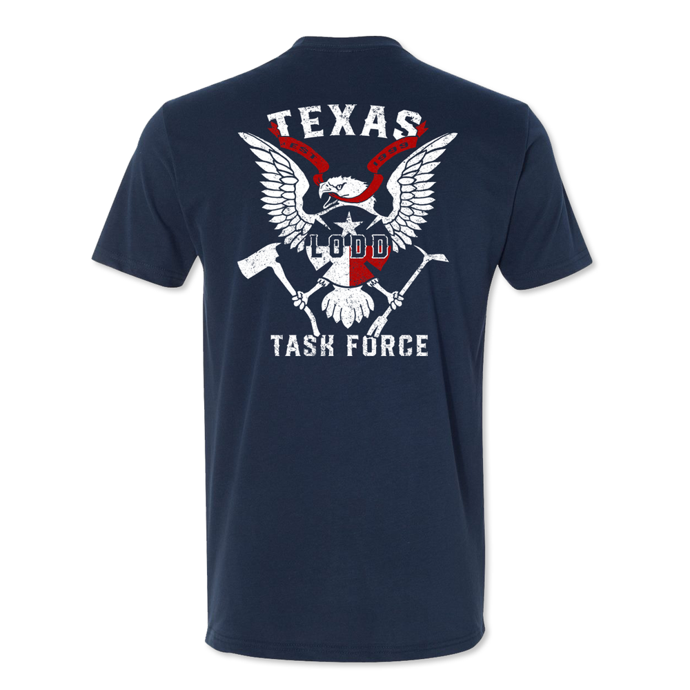 Task Force - 20 Year - Navy Poly Cotton Sueded Tee - PUBLIC
