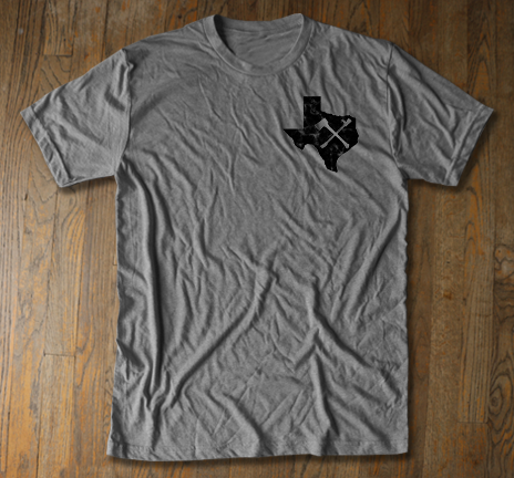 Texas Irons - Gray Tee