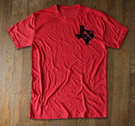 Texas Irons - Red Tee