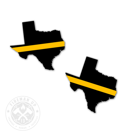"Texas Thin Gold Line - 2"" Sticker Pack"