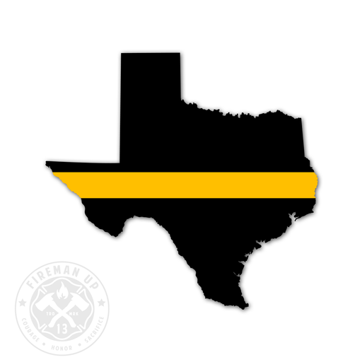 "Texas Thin Gold Line - 4"" Sticker"