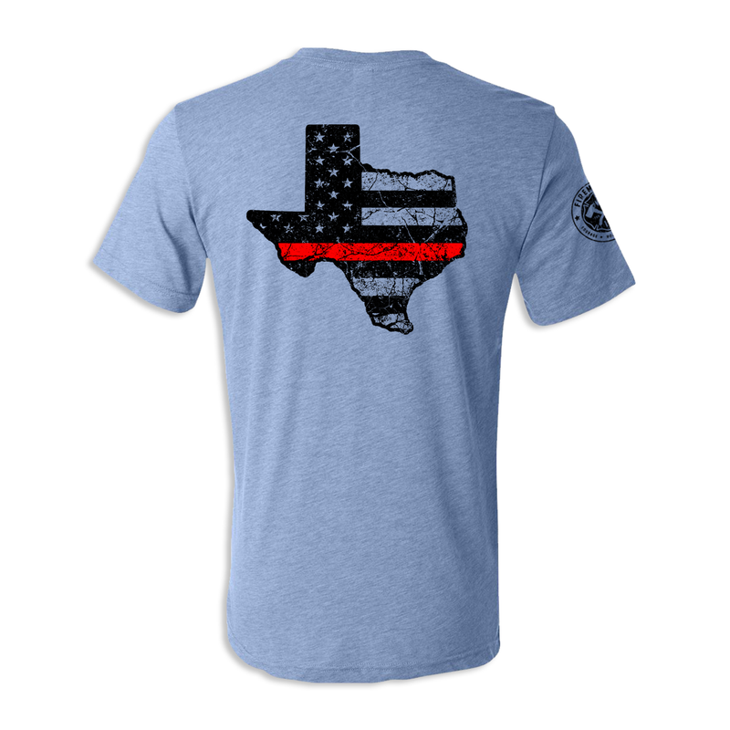 Texas Thin Red Line - Unisex Tri Blend Tee