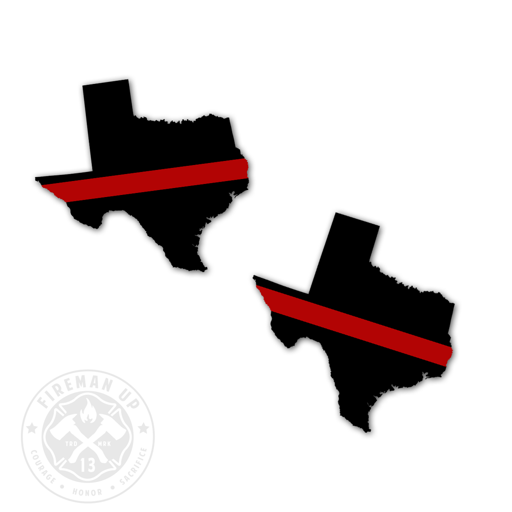"Texas Thin Red Line - 2"" Sticker Pack"