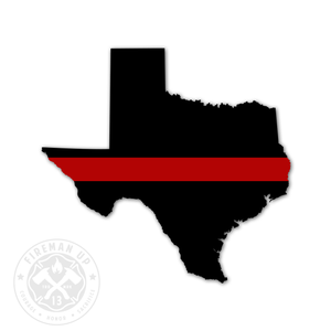 "Texas Thin Red Line - 4"" Sticker"