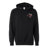 Texas Thin Red Line USA Tattered Flag - Midweight Hoodie
