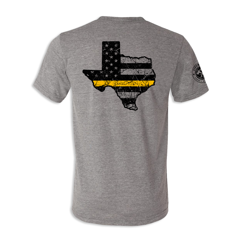 Texas Thin Gold Line - Unisex Tri Blend Tee