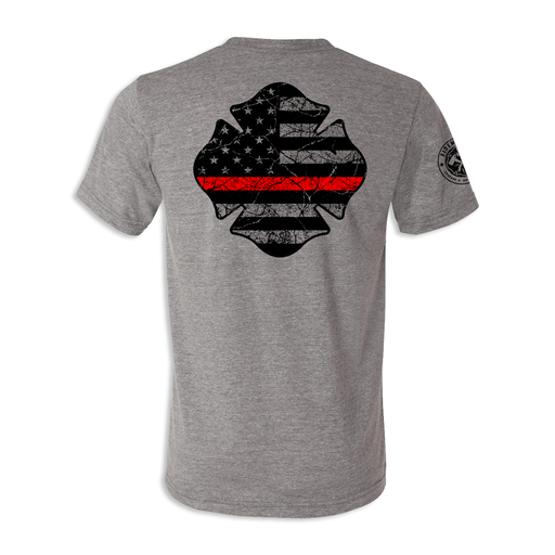 Thin Red Line Maltese USA Tattered Flag - Unisex Tri Blend Tee