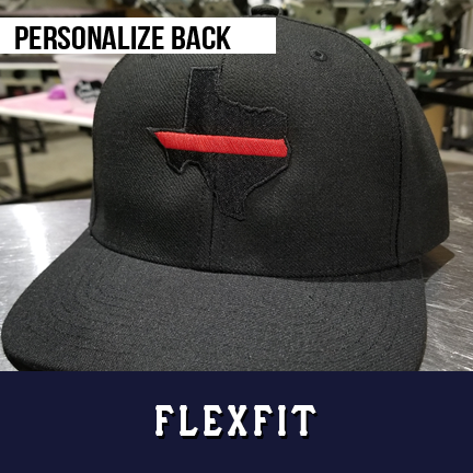 Thin Red Line Texas Custom Hat - Flexfit