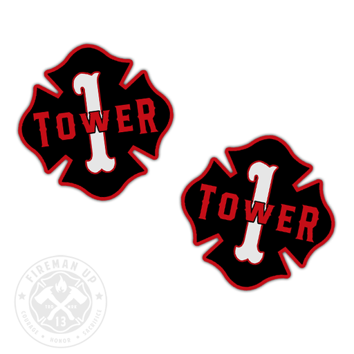 "Tower 1 Outline Number Maltese - 2"" Sticker Pack"