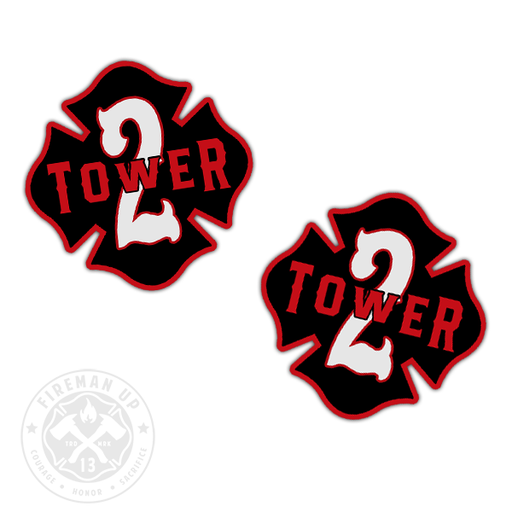 "Tower 2 Outline Number Maltese - 2"" Sticker Pack"