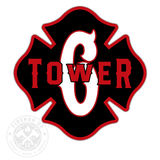 "Tower 6 Outline Number Maltese - 4"" Sticker"