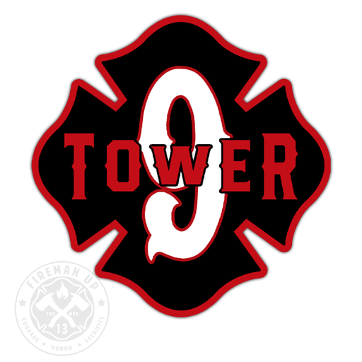 "Tower 9 Outline Number Maltese - 4"" Sticker"