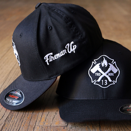 White Maltese Logo on Black Flexfit Hat