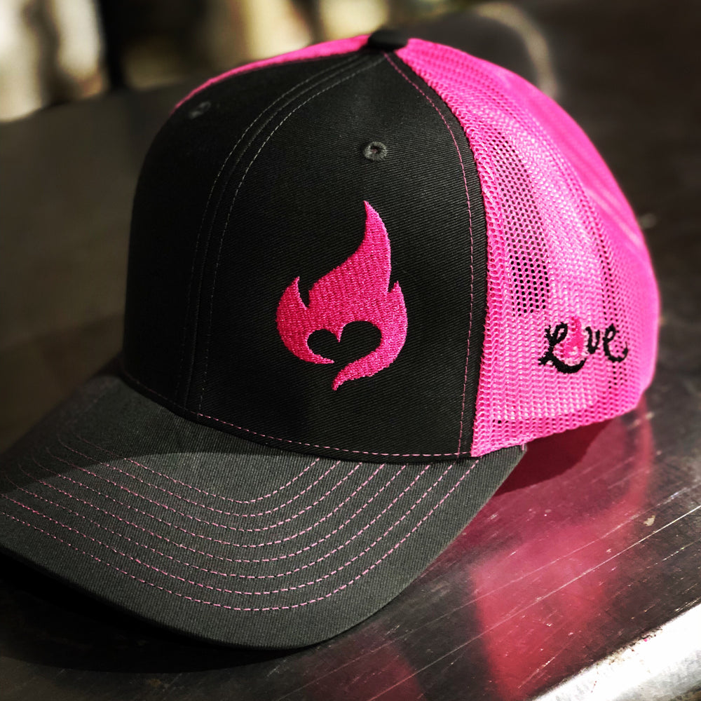 Pink Flame Adjustable Hat