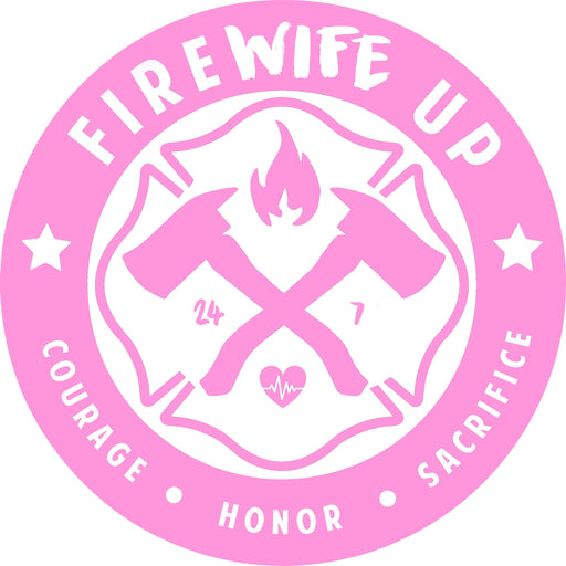 FireWIFE up Circle Logo - Sticker