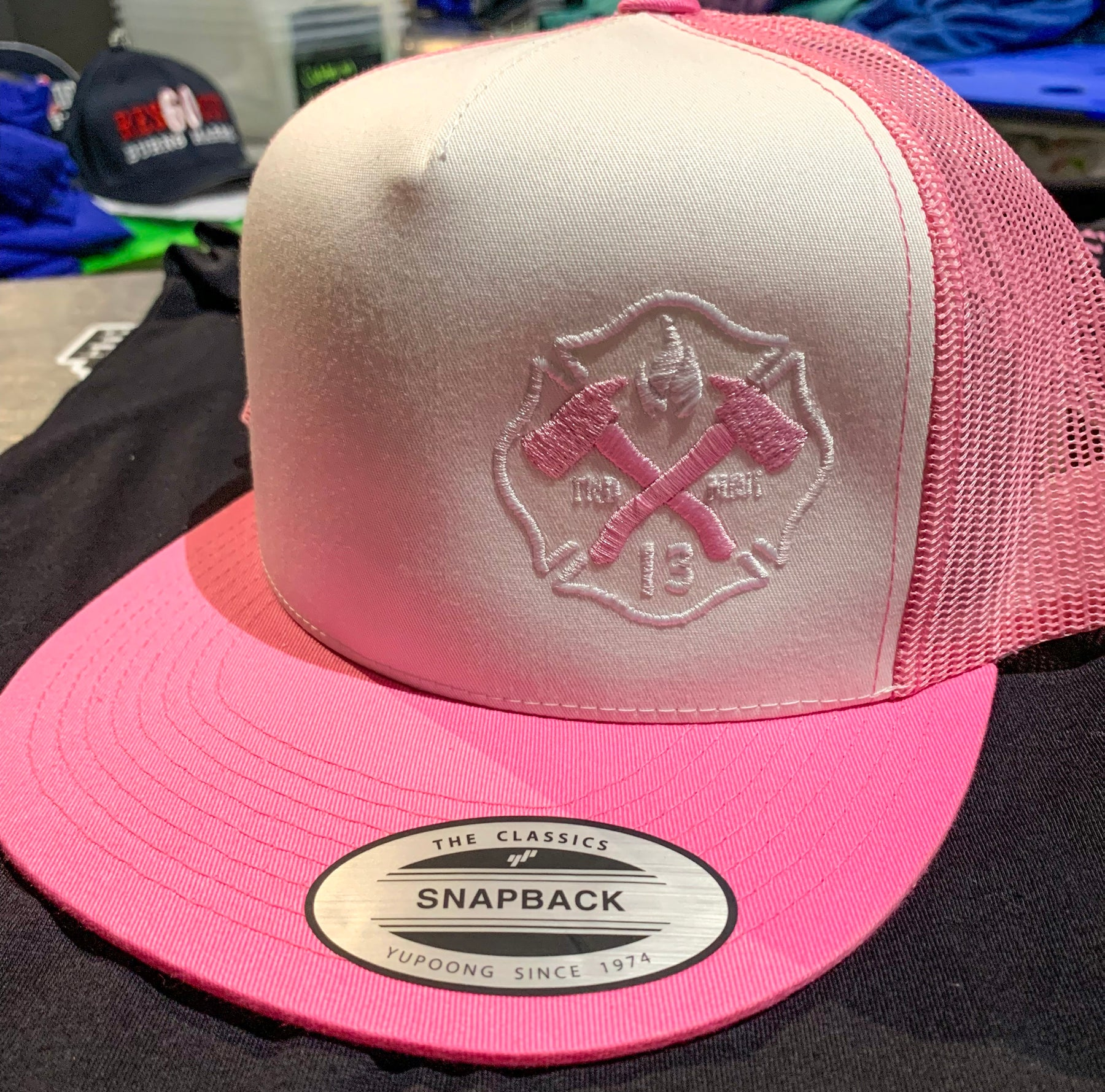 Fireman Up Pink - Flat Bill Trucker Hat