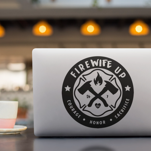 FireWIFE up Circle Logo - Vinyl Decal