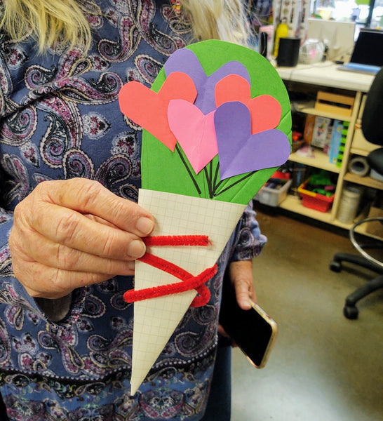 DIY Heart Bouquet Card Craft for Kids
