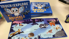 Touch and explore animals at night