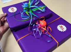 Free gift wrapping at Whiz Kids on presents big or small!
