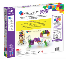 Magna-Tiles Free Style Clear Colors 40 piece set