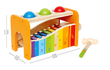 Wooden Pound and Tap Musical Bench - Hape