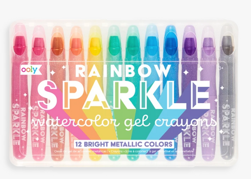 Rainbow Sparkle Watercolor Gel Crayons - Ooly