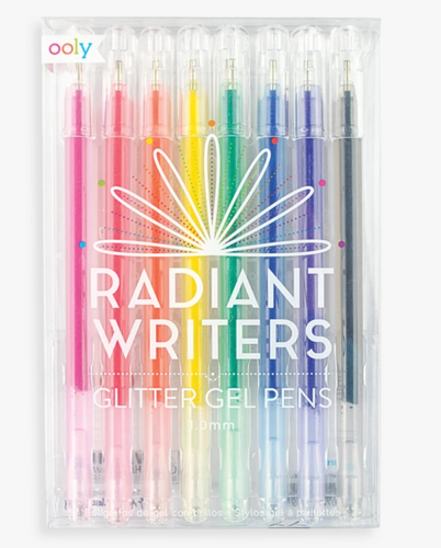 Radiant Writers Glitter Gel Pens - Ooly