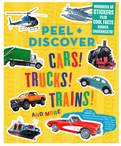 Peel and Discover Cars, Trucks, Trains etc.
