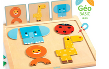 GeoBasic Magnetic Wooden Puzzle