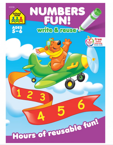 Numbers Fun! Write & Reuse (Ages 5 - 6) - School Zone