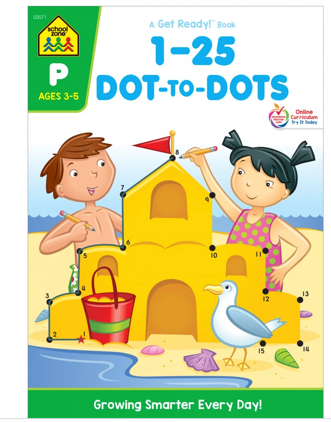 1-25 Dot-to-Dots (Ages 3-5) - School Zone