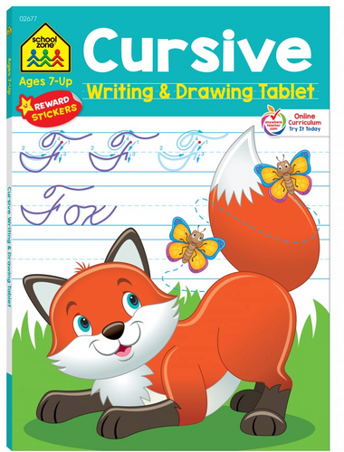 Cursive Writing & Drawing Tablet (Ages 7+) - School Zone