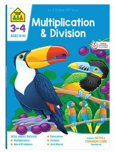 Multiplication & Division Grades 3-4 (Ages 8-10) - School Zone