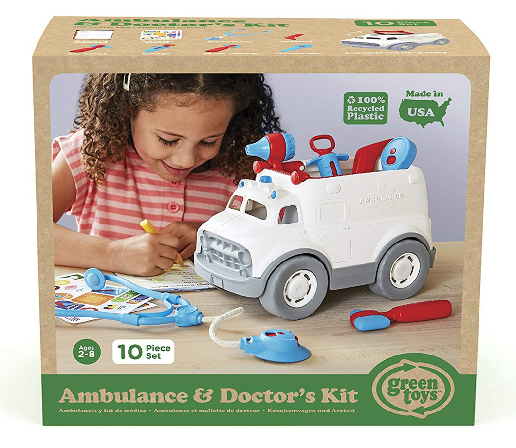 Ambulance and Doctor's Kit - Green Toys
