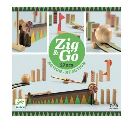 Zig & Go Action Reaction Construction Set (27 piece) - Djeco