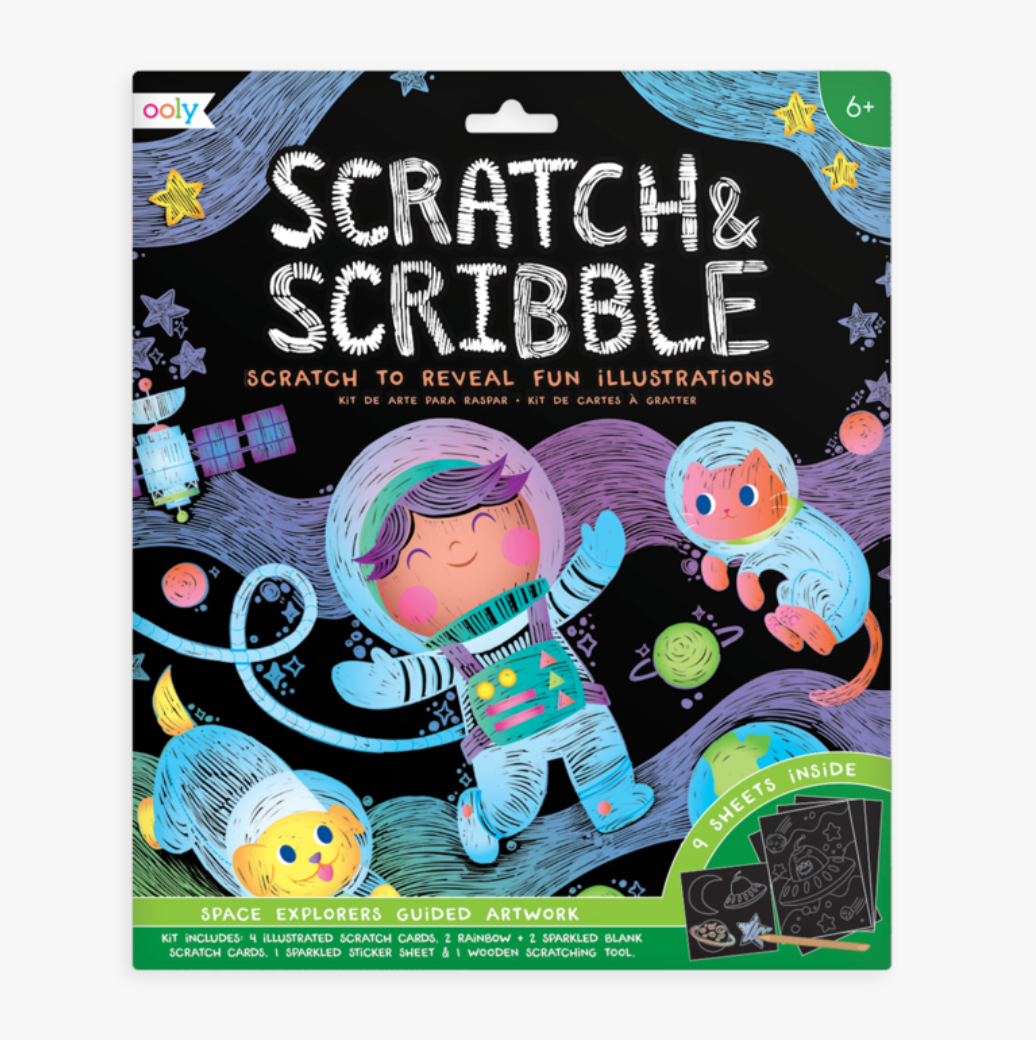 Scratch and Scribble Space Explorers- Ooly