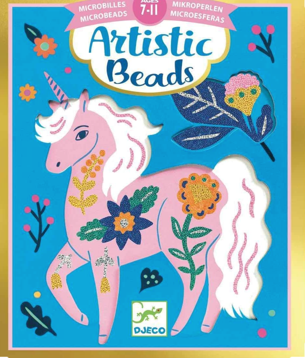 DJECO Artistic Beads Craft Kit - Flowers and Fur
