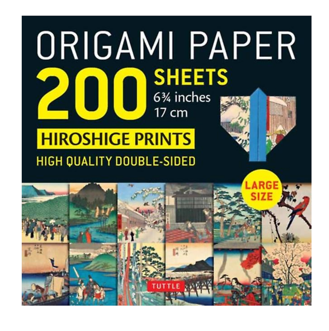 Origami Paper 200 sheets Japanese Hiroshige Prints 6.75 inch by Tuttle Publishing